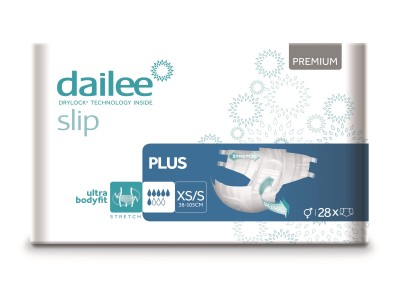 Dailee Slip Premium Plus XS/S, kalhotky zalepovací 28 ks