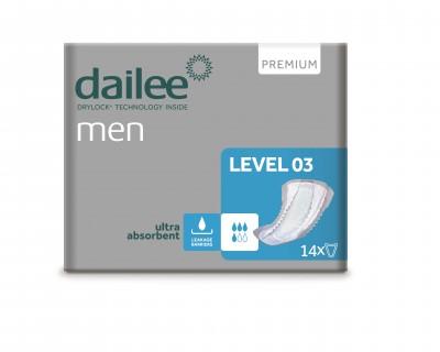 Dailee Men Premium Level 03, vložky pro muže 14 ks
