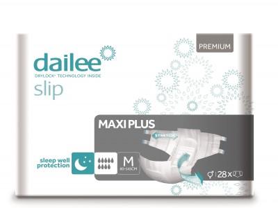 Dailee Slip Premium Maxi Plus M, kalhotky zalepovací 28 ks