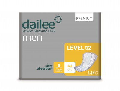 Dailee Men Premium Level 02, vložky pro muže 14 ks